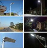 2016 nueva luz de calle solar integrada del diseño 50W LED con precio competitivo