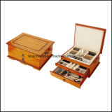 113PCS Stainless Steel Cutlery Set con Wood Box