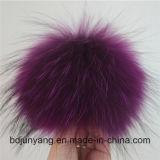 帽子のためのボタンとの熱い販売のアライグマの毛皮POM Poms