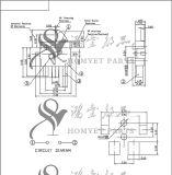 Interruptor de restauração/interruptor de tecla com mastro do registo