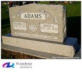 Het moderne Graniet die van de Aard van het Ontwerp Rechte Grafsteen voor Gedenktekens uithollen
