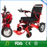 Preço barato todo o Portable de pouco peso do terreno que dobra a cadeira de rodas Rollator da energia eléctrica