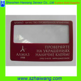 Lente d'ingrandimento portatile di plastica con la scheda personalizzata Hw-802 del Magnifier della casella di marchio