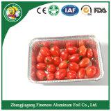 Bandeja modificada para requisitos particulares del papel de aluminio para el alimento