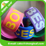 각종 Sizes Eco-Friendly Candy Color Silicon Slap Bracelets