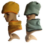 [وينتر سبورت] قطريّة صوف أوشحة [سنوود] عنق مسخّن [فس مسك] [بني] قبعات