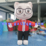 Outdoor Custom Design Cute Cat Inflatable Cartoon pour la publicité / Cartoon gonflable Cartoon