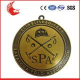 亜鉛合金のダイカストで形造るロゴのスポーツメダルかマラソンメダル