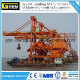 Déchargeuse mobile de bateau d'encavateur de bord du quai fonctionnant dans le port maritime