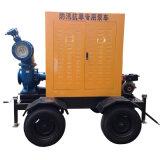 Mobile fonctionnant la pompe à eau diesel de grand écoulement