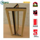 Окно Casement цвета водоустойчивого снаружи PVC открытого деревянное