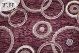 Pano de tingidura de pano do sofá do jacquard do círculo do Chenille (FTH31427)