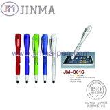 La promoción de múltiples funciones de la pluma JM-D01s con un LED Un tacto de la aguja