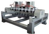 Máquina de madera de la carpintería del CNC del movimiento de 4 ejes (VCT-3512R-6H)