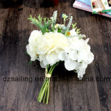 Fleur artificielle de qualité du bouquet de pivoine et de Hydrangea (SF15501)