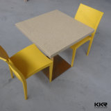 Обеденный стол самомоднейшей конструкции Kkr акриловый твердый поверхностный с стулом