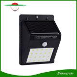 20 LEDの太陽エネルギーPIRの動きセンサーの壁ライト屋外の防水庭ランプ