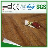 plancher en stratifié ciré d'Uniclic de technologie allemande de l'épreuve HDF de l'eau gravé en relief par 12mm (1011)