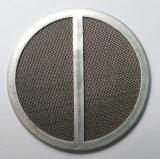 Filtre à disques aggloméré de treillis métallique d'acier inoxydable
