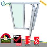 Анти- UV конструкция окна удара урагана UPVC/PVC пластичная для домов