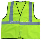 Traffico Safety Vest con High Luster Reflective Polyester Fabrics