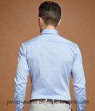 Camice sottili di affari di modo del cotone lungo del manicotto degli uomini superiori