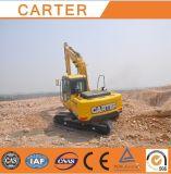 Hydraulischer Gleisketten-Hochleistungsmultifunktionslöffelbagger-Miniexkavator Carter-CT150-8c