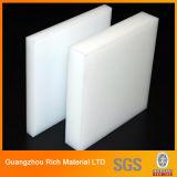 O Opal branco leitoso moldou a folha plástica acrílica para a caixa leve