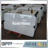 白い人工的な石造りのNanoガラス、Marmoのガラス平板のタイル