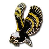 カスタマイズしなさい鳥の形の柔らかいエナメルのバッジPinか折りえりPin (QLHz0019)を