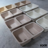 Bassin de cuisine extérieur solide de quartz de qualité en gros