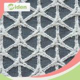 Padrão Geométrico Crossing Net Embroidery Lace Tecido para fazer vestidos