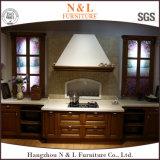 N & L mobília da cozinha da madeira contínua com forma elegante