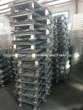 Stillages galvanizados resistentes pequenos dos recipientes da caixa de pálete do engranzamento de fio