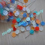 Chevilles colorées de rapiéçage de tête de forme de bouton