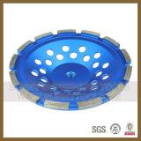 Roda de moedura do copo do diamante do fabricante, roda de moedura de pedra abrasiva do copo