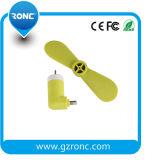 Mini ventilateur pour le ventilateur de l'iPhone USB avec le connecteur androïde 2 dans 1 ventilateur d'USB