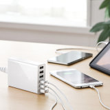 iPad、iPhone (LCK-MU017)のための6つのポートが付いているACアダプター