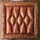Панель стены PU роскоши 3D кожаный для украшения (HS-MK011)