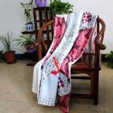 одеяло ватки Microfiber младенца детей Raschel печатание 2layers цифров Coral