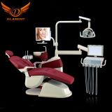 Heißer verkaufenqualität CER anerkannter realer lederner zahnmedizinischer Stuhl mit LED-Fühler-Licht