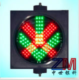 300mm LED 적십자 & 녹색 화살을%s 가진 번쩍이는 차도 제어 신호 빛