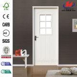 白いプライマー低価格のガラス木のドア