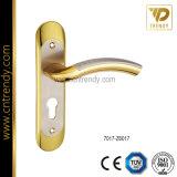 Punho do fechamento de porta da placa do zinco com furo chave padrão