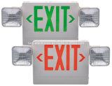 배터리 백업 먼 이중 헤드 UL 열거된 LED 출구 표시 및 비상등