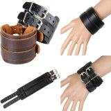 Schmucksache-Form-Edelstahl-Schmucksache-Leder-Armband (HJ6013)
