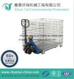 Jaula de hierro plegable del almacenaje de la seguridad de la carretilla elevadora