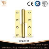 王冠ヘッド(HG-1010)が付いているドアのハードウェアのフォールドのクランクの真鍮のヒンジ
