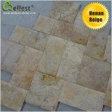 クリーム色のMarfilおよび他のベージュ大理石の自然な石造りのタイルまたは平板またはステップまたは虚栄心の上の線形