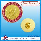 Emblema Sportive personalizado do metal com logotipo chapeado ouro